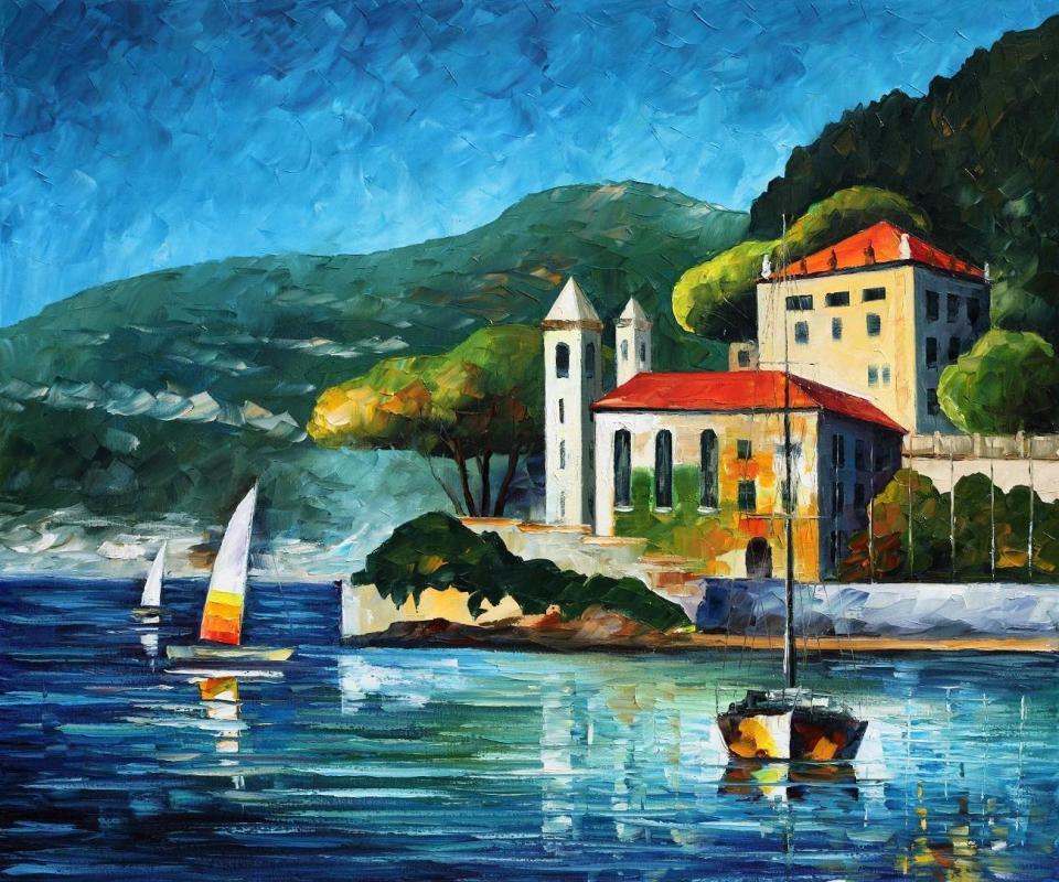 1800    30x36    ITALY,  LAKE COMO - VILLA BALBIANELLO  - 4