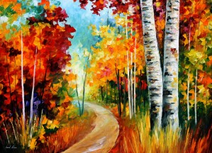 1201    36x48 WHITE BIRCHES  - 8