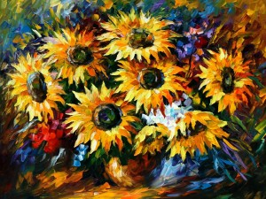 1280  sunflowers   40x30 - 5