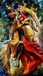 1490      36X20   CORRIDA - DANCE WITH THE BULL - 5