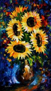 1495       36X20   NIGHT SUNFLOWERS - 5