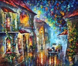 1909  Streets at night   30x40 - 10